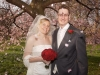 Bride & Groom under Blossom